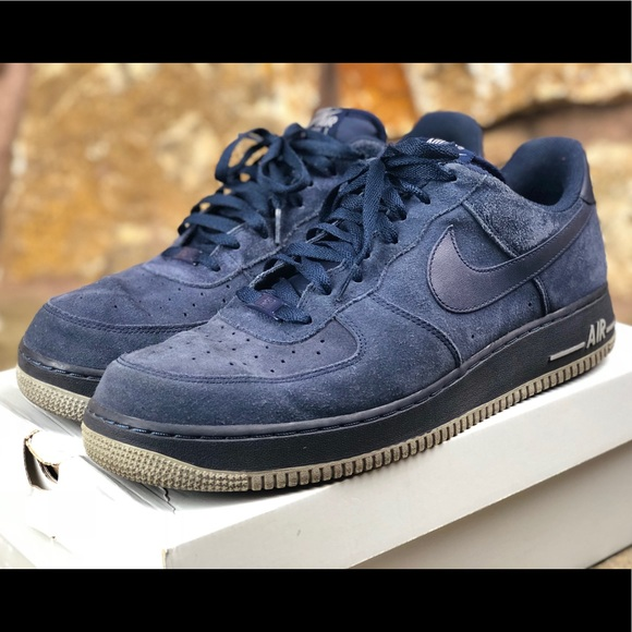 Nike Air Force Navy Suede Mens Size 13